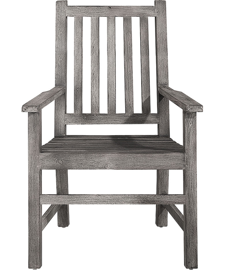 OXFORD Armchair Teak old grey